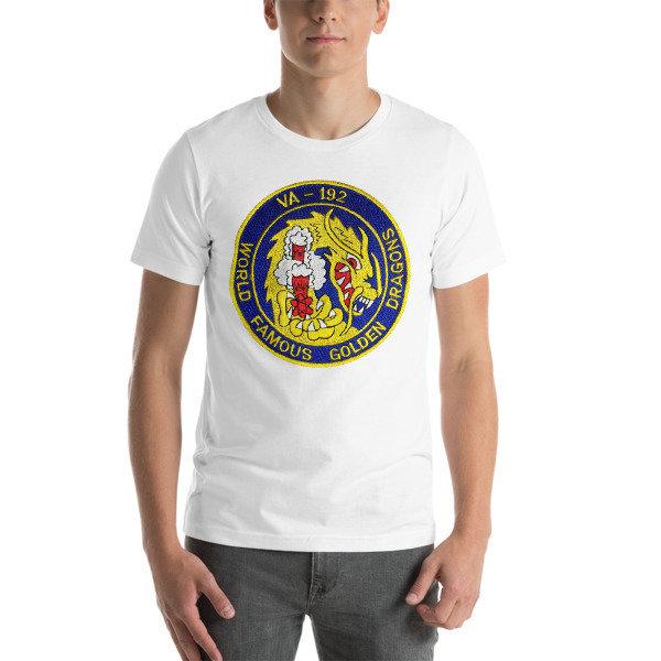 VA-192 WORLD FAMOUS GOLDEN DRAGONS ATKRON 192 Short-Sleeve Unisex T-Shirt - Multiple Colors