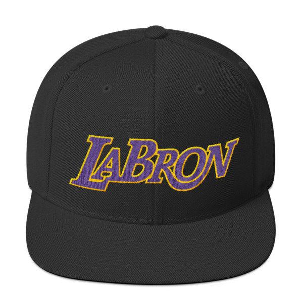 LABron Black Snapback Hat