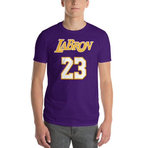 LABron Laker Blue Short-Sleeve T-Shirt