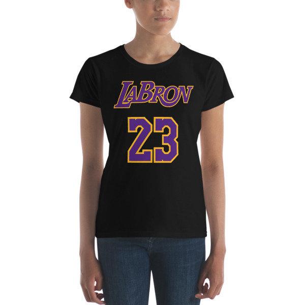 LABron Women's black short sleeve t-shirt