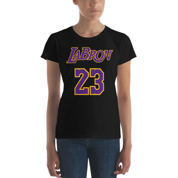 LABron Women's black short sleeve t-shirt
