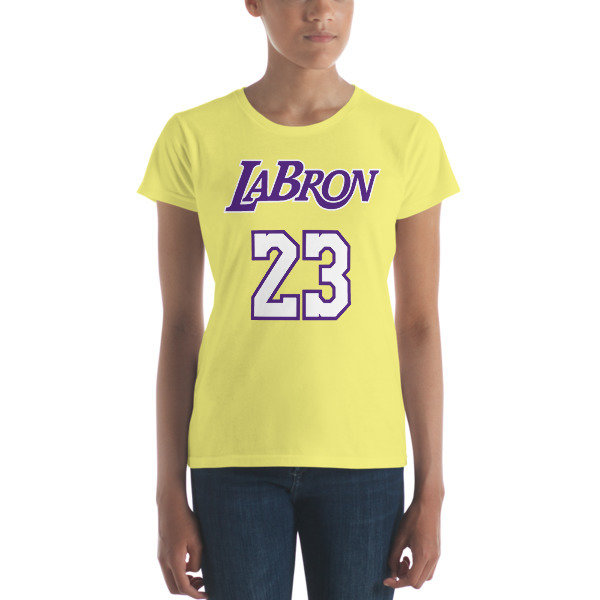 LABron Women's yellow short sleeve t-shirt