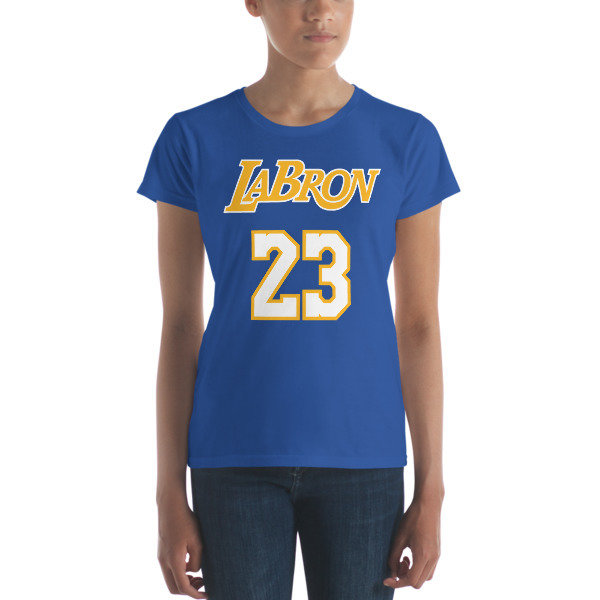 LABron Women's blue short sleeve t-shirt