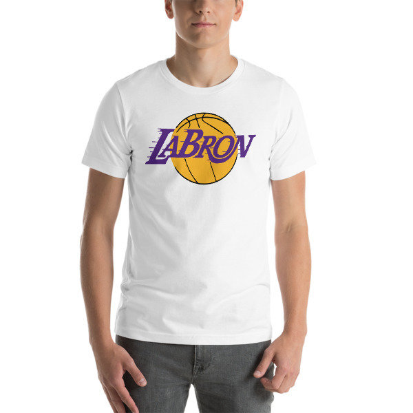 LABron Lakers White Short-Sleeve Unisex T-Shirt