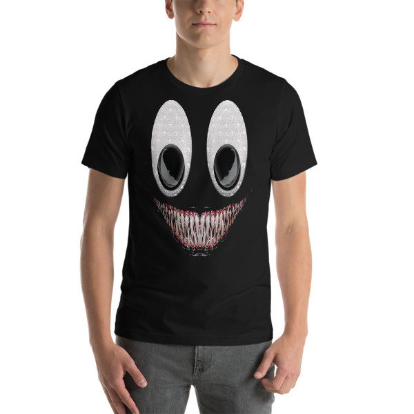 BROMAZIN SCARY FACE GOOGLY EYES Venom Short-Sleeve Unisex T-Shirt