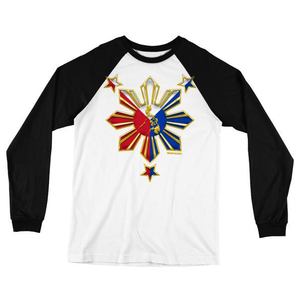 PROUD TO BE FILIPINO Long Sleeve Baseball T-Shirt PHILIPPINES
