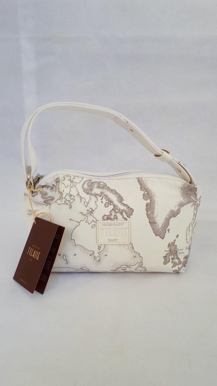 ALVIERO MARTINI (PRIMA CLASSE) borsello bianco con tracolla