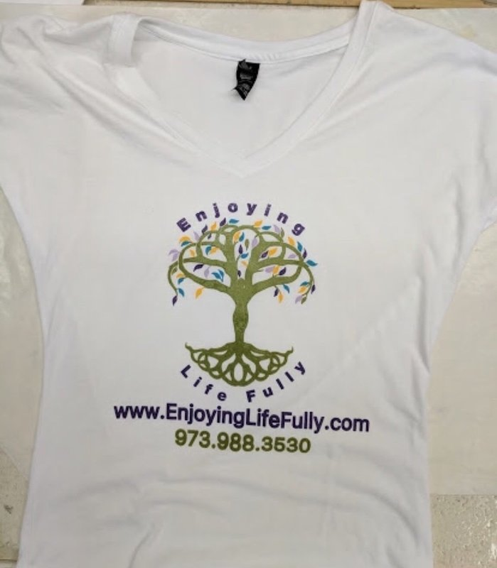 Enjoying Life Fully V-Neck T-Shirt