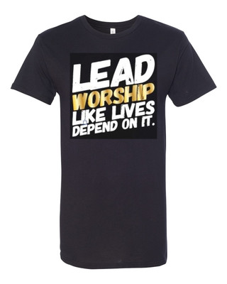LEAD WORSHIP - Unisex Long Tee | with GOLD