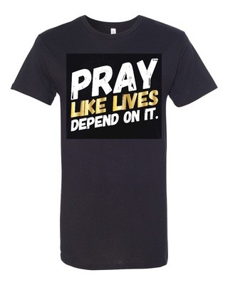 PRAY - Unisex Long Tee | with GOLD