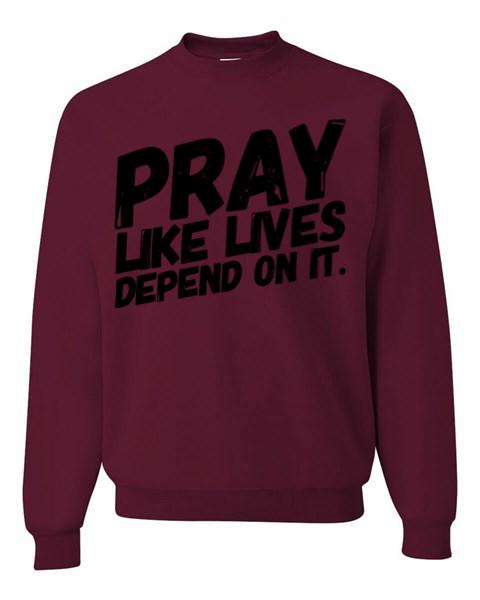 PRAY - Sweatshirt | Maroon