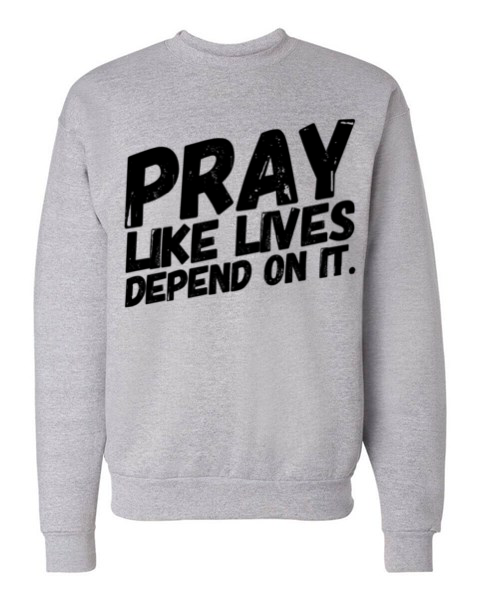 PRAY - Sweatshirt | Light Steel