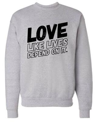 LOVE - Sweatshirt | Light Steel