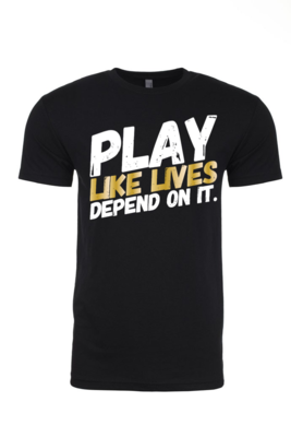 PLAY - Men's Crew Neck Tee | with GOLD