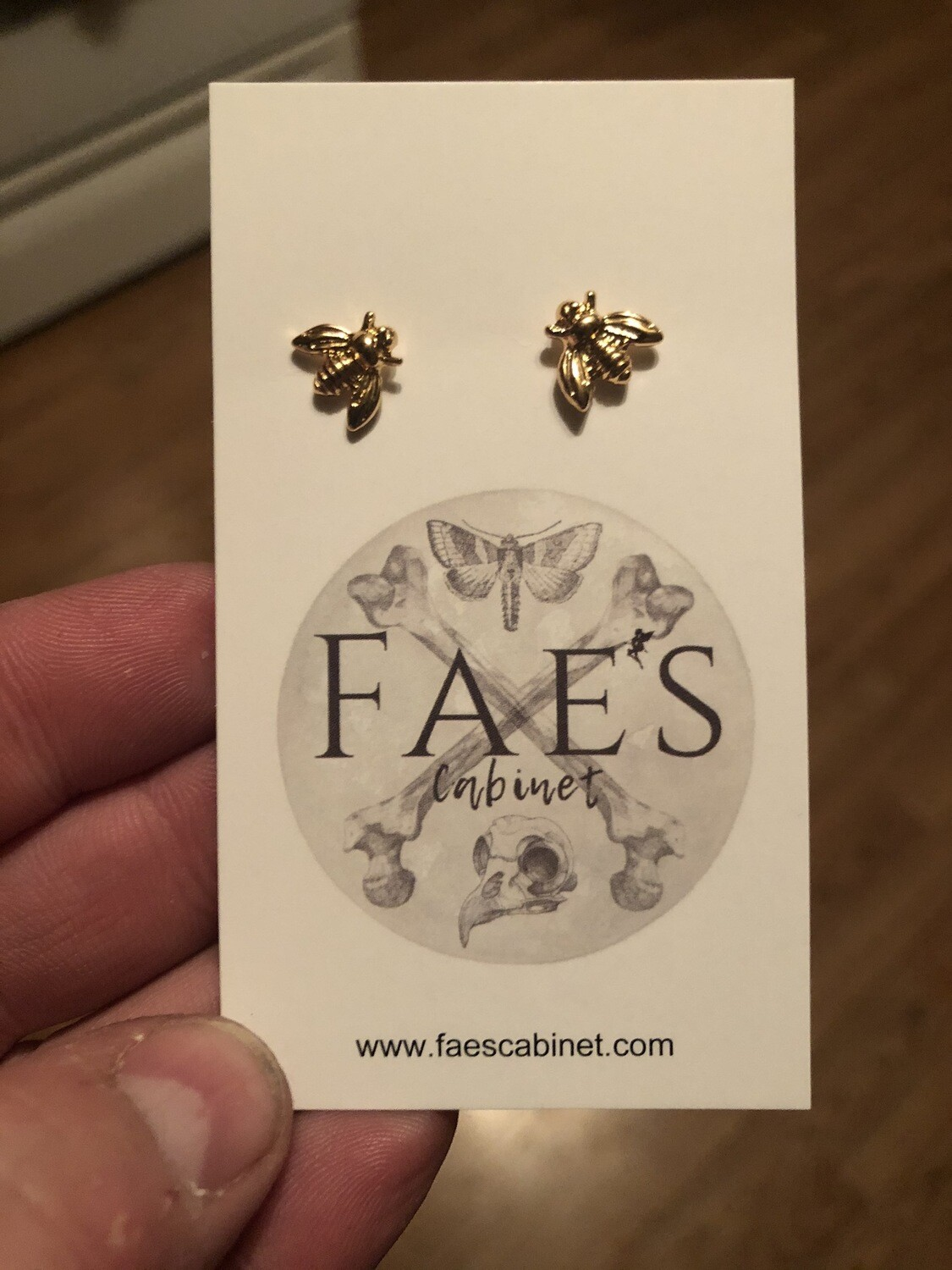 Gold Plated Bee Earrings