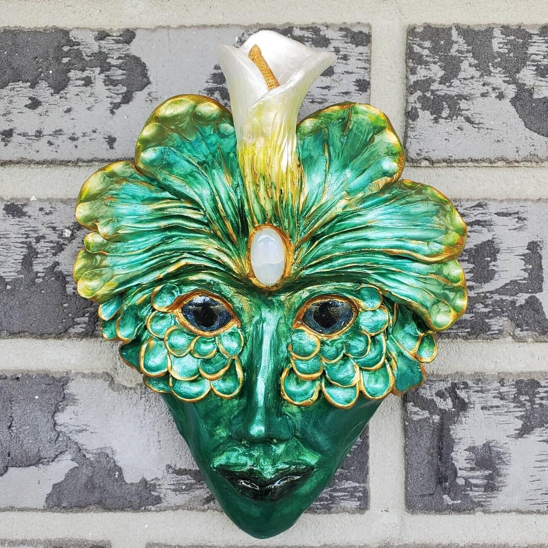 Green Man Fae sculpture