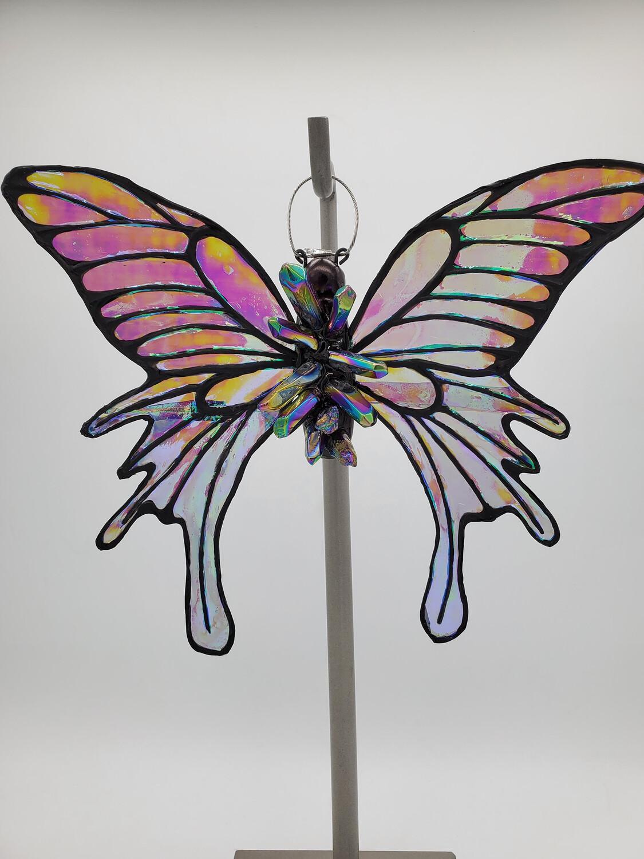 Titanium Aura - Crystal Butterfly - Large