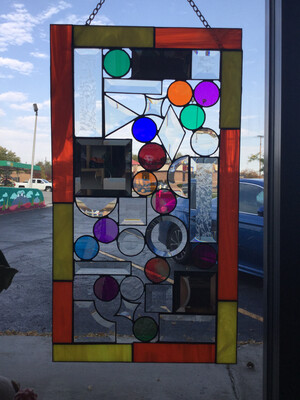Geometric Shapes Stained Glass