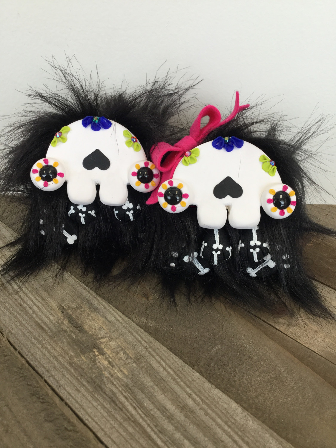 Carlos and Juanita the Sugar Skull Monsters