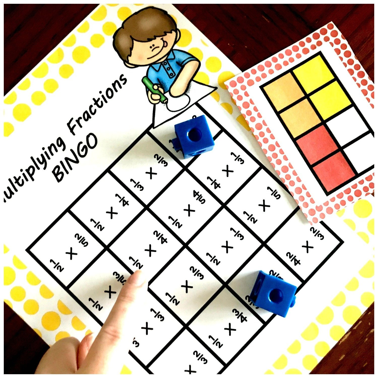 Multiplying Fraction By Fractions BINGO
