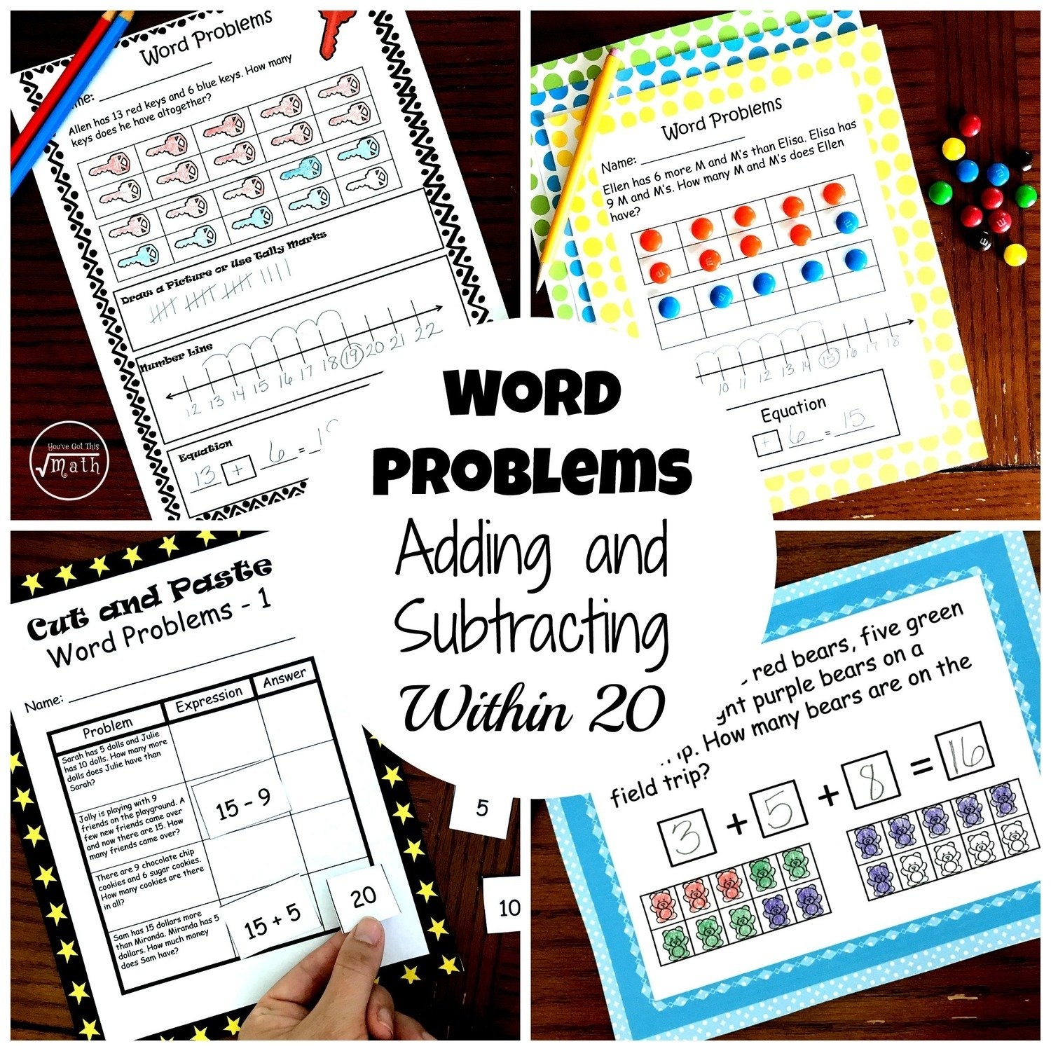 Word Problem Bundle – 4 Activities to Practice Adding and Subtracting