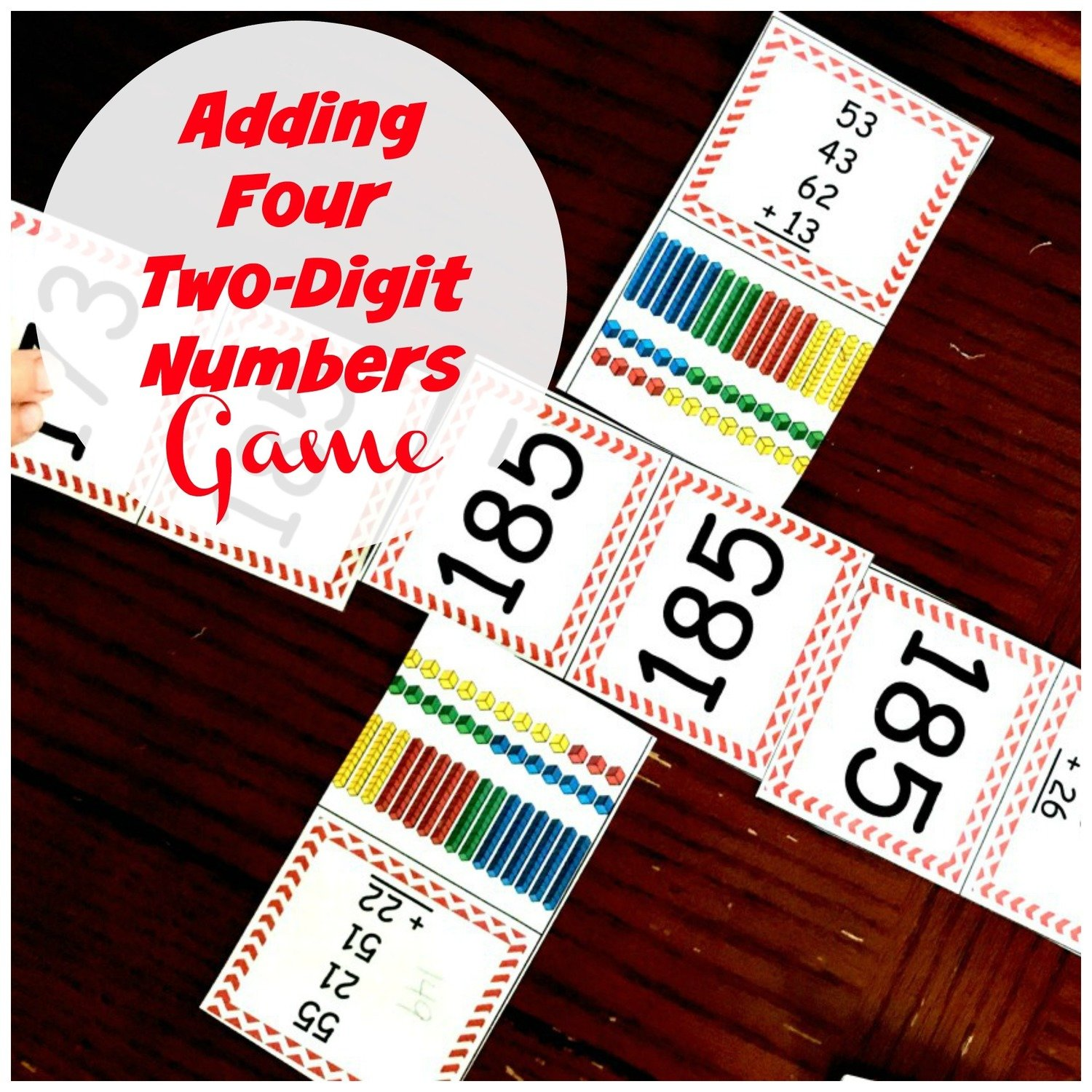 Adding Four Two Digit Numbers Game
