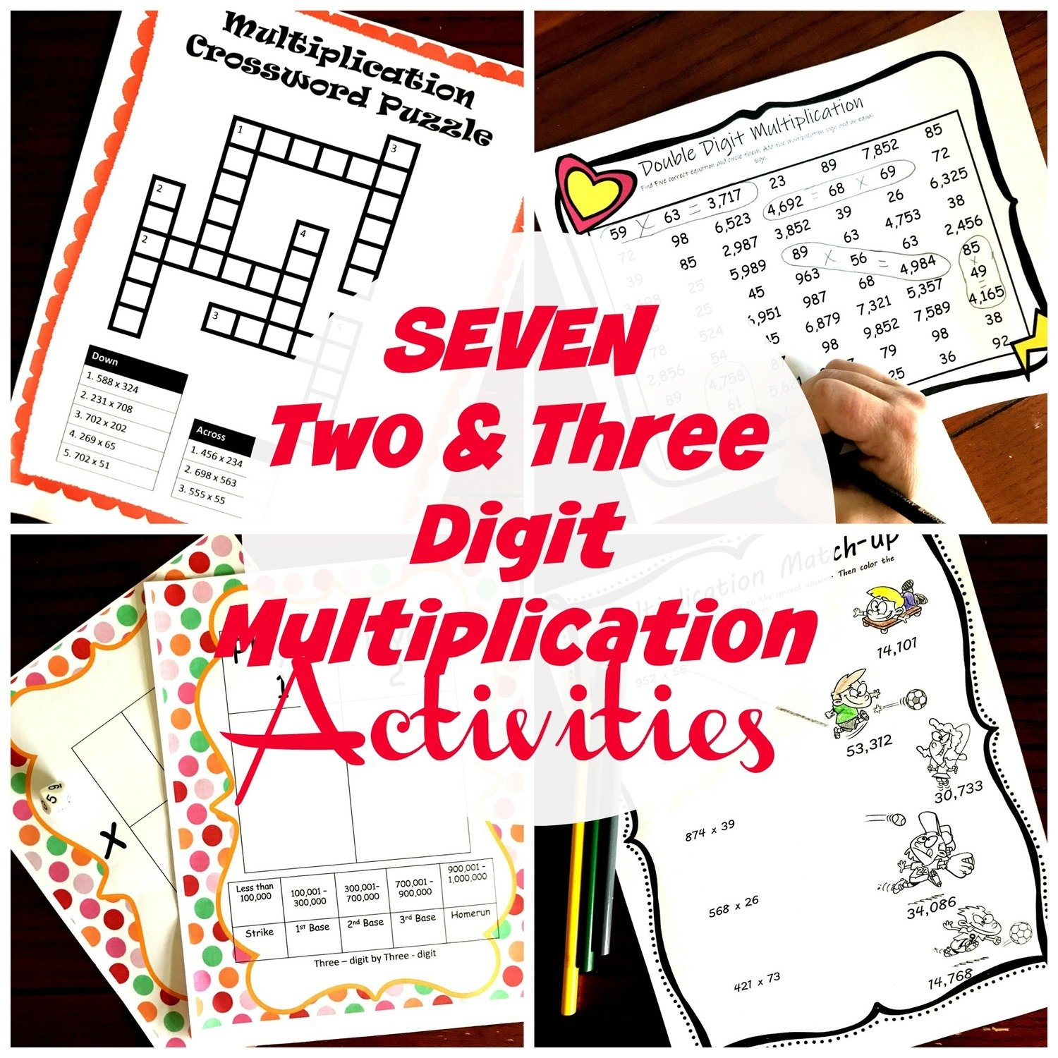 7 Activities to Practice Multiplying Two and Three Digit Numbers