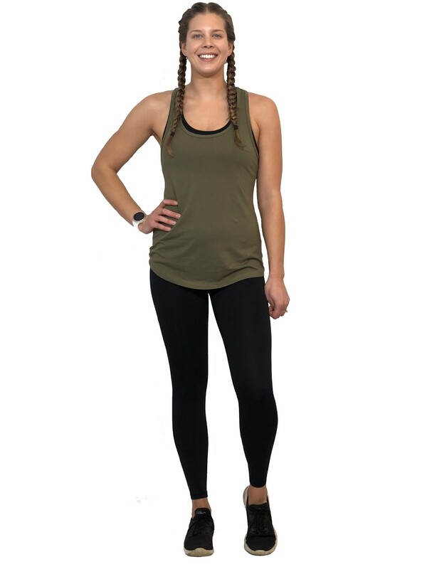 Birch Classic Racerback Tank (Military Green)