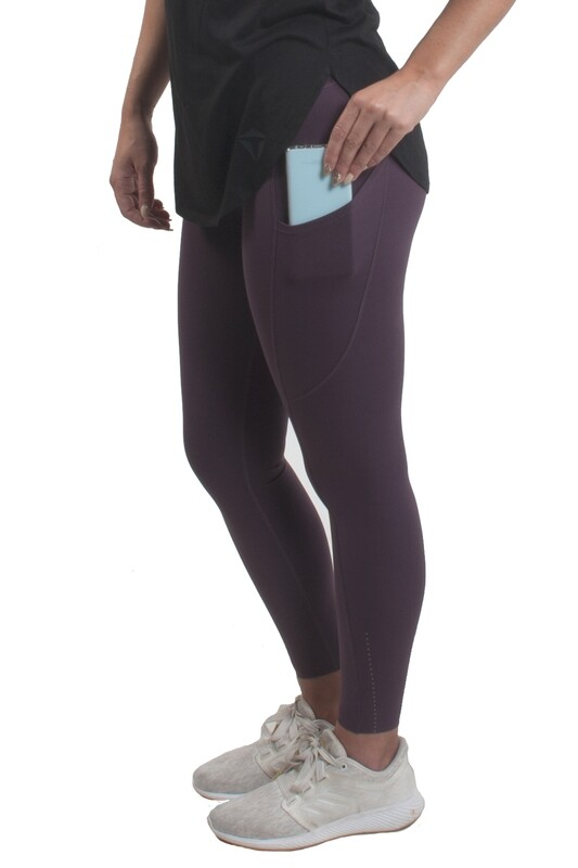 PIKA 7/8 POCKET LEGGINGS (Merlot)