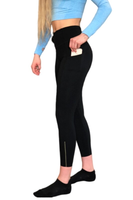 PIKA 7/8 POCKET LEGGINGS (Black)