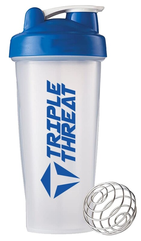 Triple Threat Shaker Bottle (0.6L) - Blue