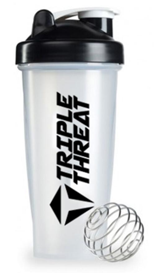 Triple Threat Shaker Bottle (0.6L) - Black