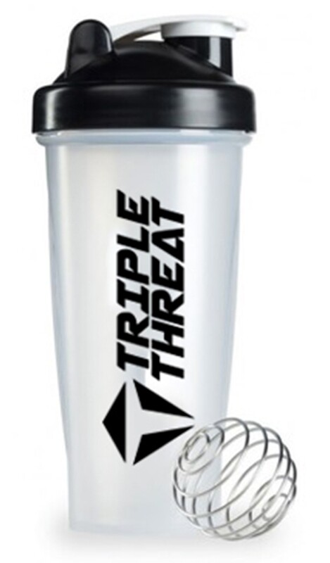 Triple Threat Shaker Bottle (0.6L) - Black