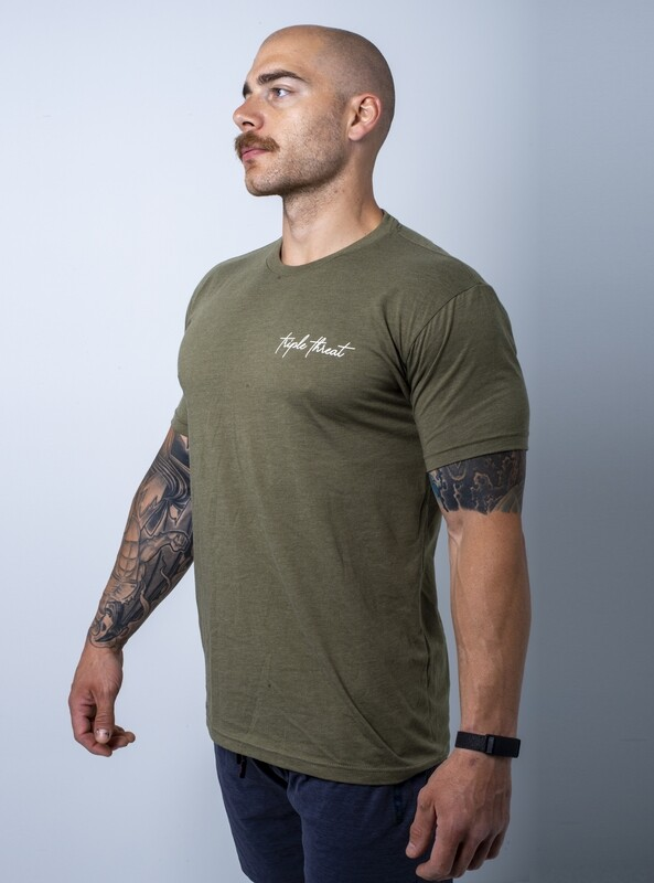 Sequoia Signature T-Shirt- Htr Army
