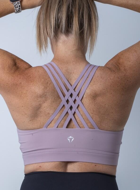 Alora High-Impact Sports Bra- Lavender