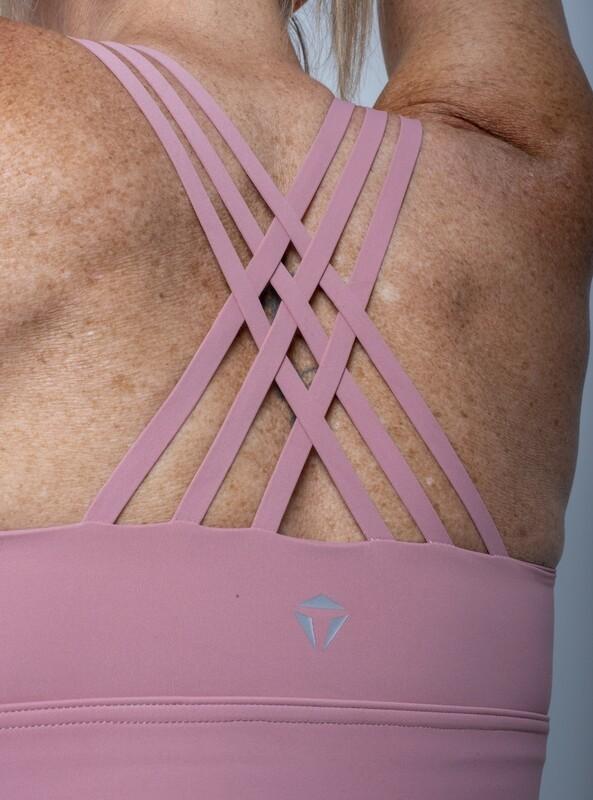 Alora High-Impact Sports Bra- Blush Pink