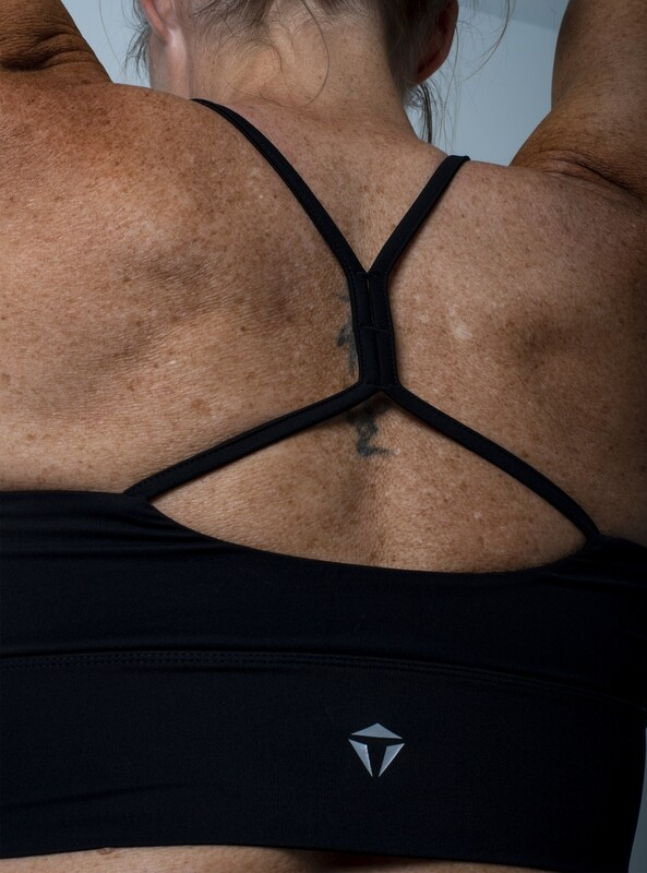 Stella Cropped Sports Bra- Black