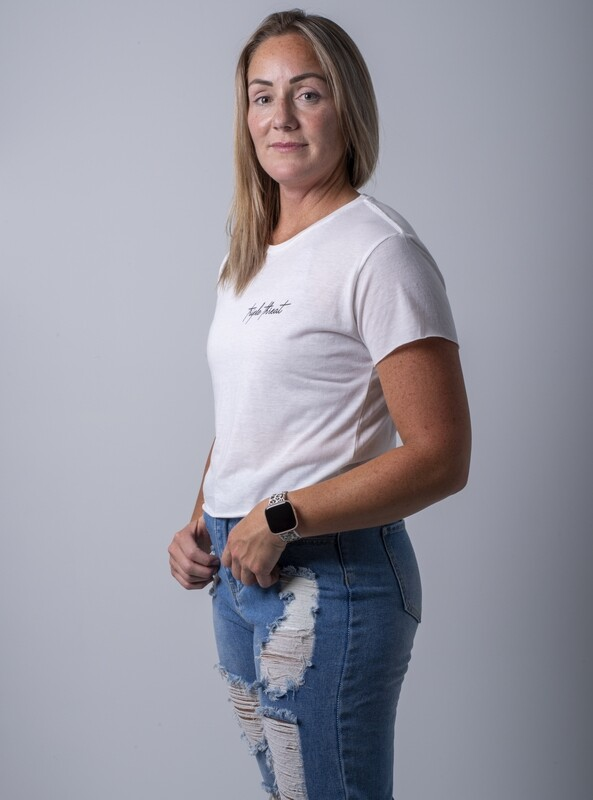 Cascara Signature Crop T-Shirt- White