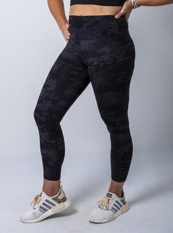 Rym High-Waist Leggings- Black Camo