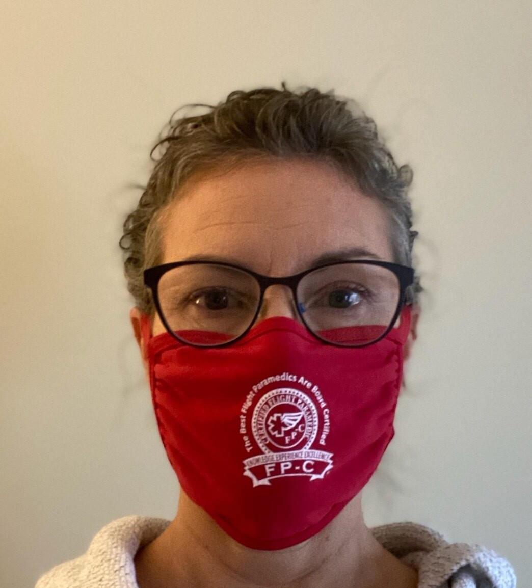 FP-C logo cotton mask (red)