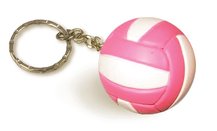 Volleyball Keychain Tandem Pink