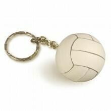 Volleyball Keychain Tandem White