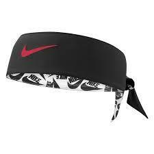 Nike Head Tie White/Black/Track Red | Reversible Printed