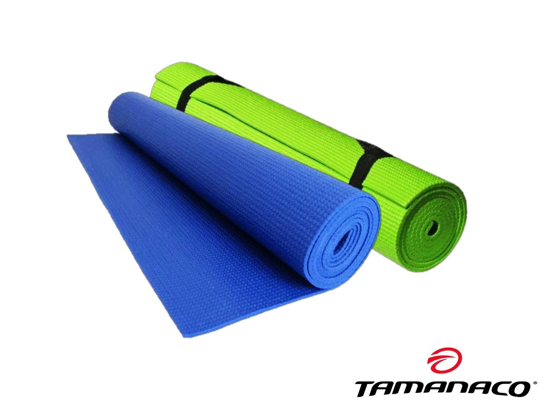 Green - 6 mm PVC Yoga Mat Tamanaco w/Strap