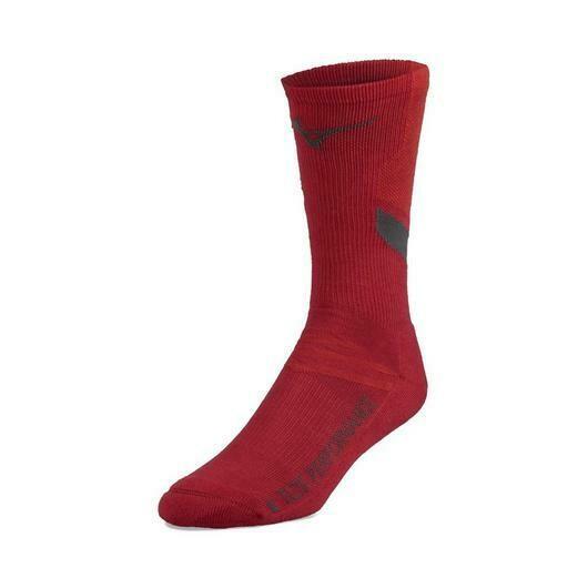 480189 Red Runbird Sock Mizuno