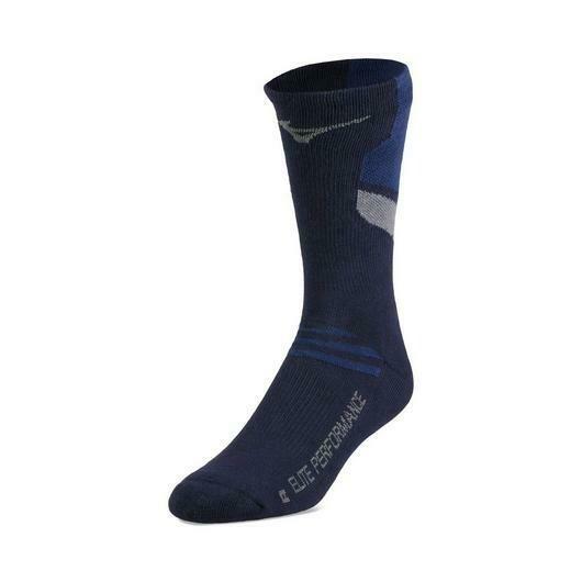 480189 Navy Runbird Sock Mizuno