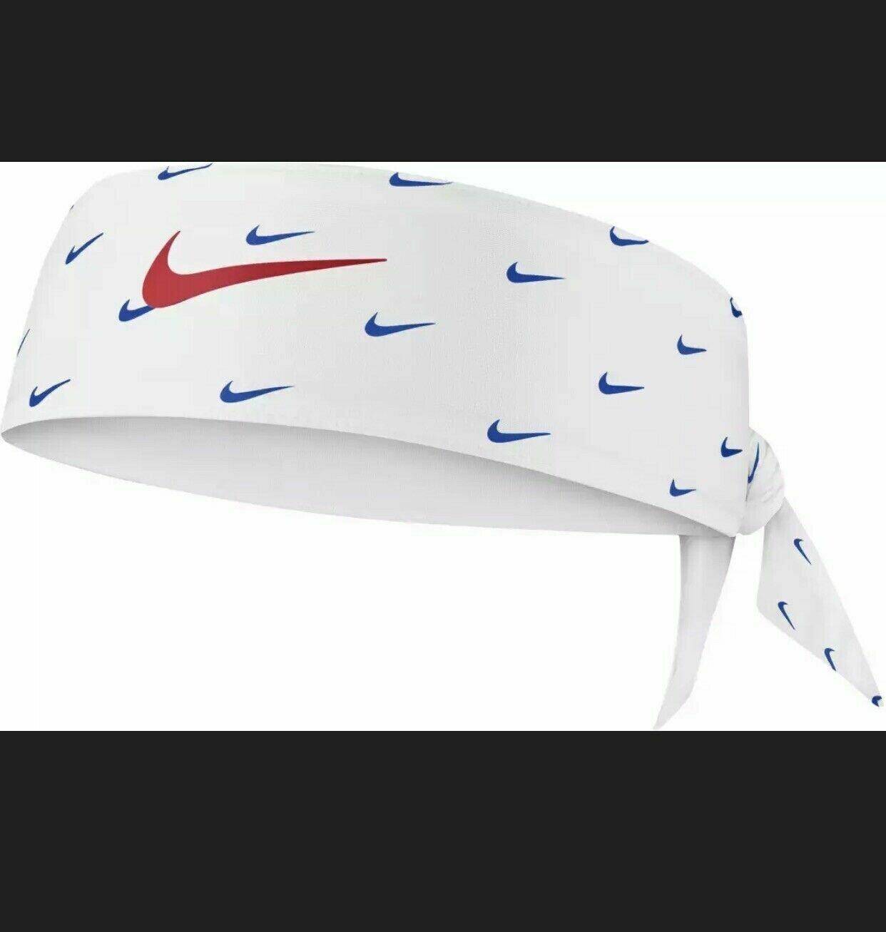 Nike Headtie White Logo Royal