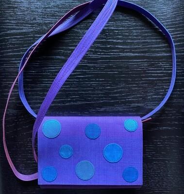 Purple Polkadot Purse (Removal Strap)