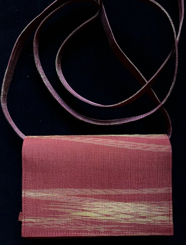 Red Jazz Ikat Purse (Removal Strap)