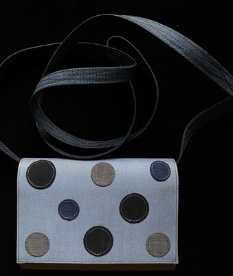Grey Polkadot Pattern Purse (Removal Strap)